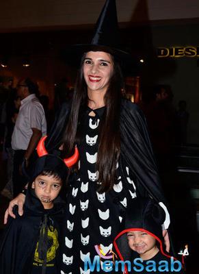Tara Sharma At Palladium Halloween Bash