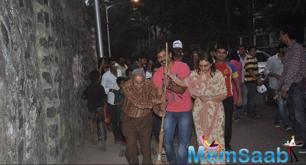Vivek Oberoi Participating Actively In CPAA Cleanliness Drive