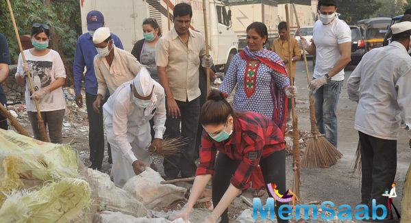 Tamannaah Bhatia At Cleanliness Drive Event
