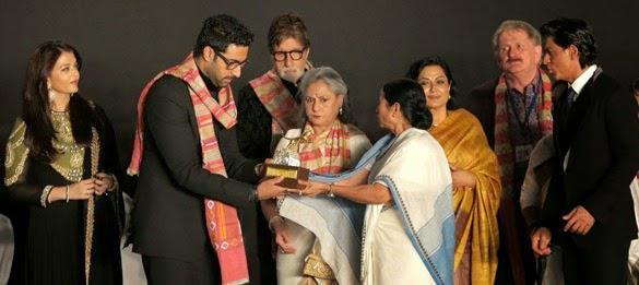 Aishwarya,Abhishek,Amitabh,Jaya,Mamata And SRK Inaugurated The Opening Ceremony Of 20th Kolkata Film Fest