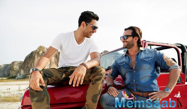 Yuvraj Singh And Saif Ali Khan Cool Pose Near A Car In Fair & Lovely TVC Ad