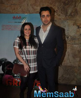 Imran Khan With Wife Avantika Malik Khan Posed During The Screening Of Documentary Movie Hosted By Aamir Khan
