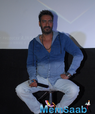 Ajay Devgan At The Launch Of Action Jackson Film Theme Song