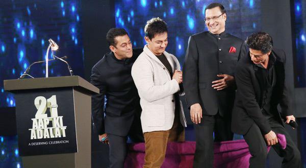 Shah Rukh, Salman, Aamir Make Rajat Sharma's Show A 'Khans Ki Adaalat'