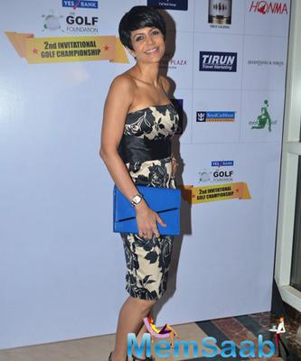 Mandira Bedi At Yes Bank Golf Foundation Event
