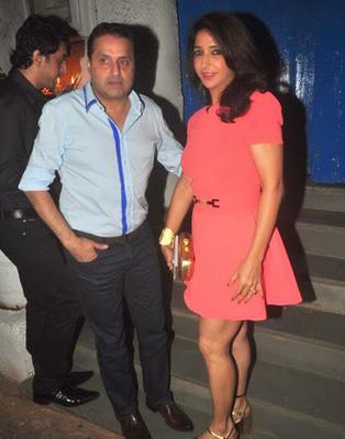 Designer Krishika Lulla With Hubby Sunil A Lulla Clicked At Olive Bar