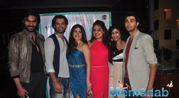 Barun Sobti,Shenaz Treasurywala And Others Posed At Main Aur Mr. Riight Movie Bash