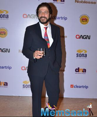Chunkey Pandey Strikes A Pose At Magic Bus Charity Dinner 2014