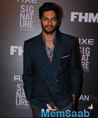 Ali Fazal Smiling Pose During Axe Signature And FHM Bachelor Of The Year 2014 Awards
