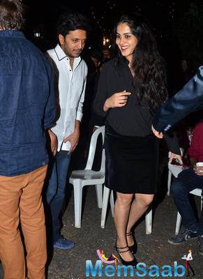 Genelia D'Souza And Riteish Deshmukh At Midnight Xmas