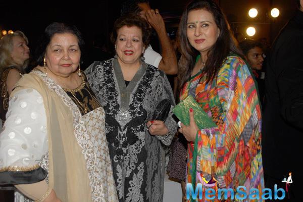 Pamela Chopra And Poonam Dhillon Clicked During The 2nd Yash Chopra Memorial Award