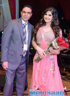 Zareen Khan At San Francisco Christmas Gala Event