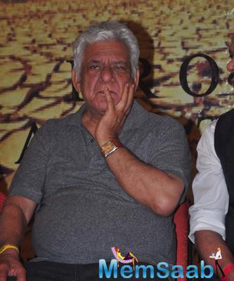 Om Puri At Launch Of Film Project Marathwada