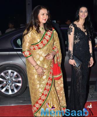 Poonam Dhillon Gorgeous Look At Kush Sinha Wedding Reception