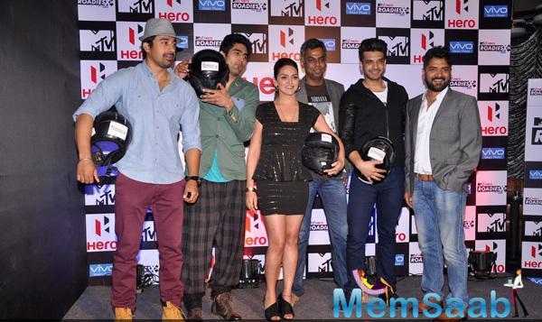 Rannvijay,Vijender,Esha,Karan And Others Clicked During MTV Hero Roadies X2 Press Meet