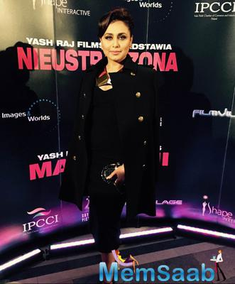 Rani Mukerji Beautiful Look During The Premiere Of Mardaani In Poland