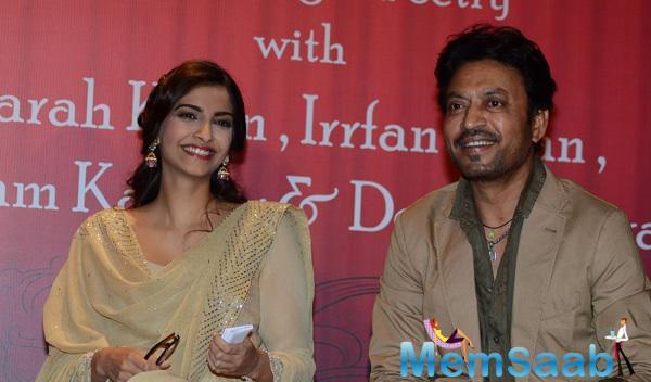 Sonam And Irrfan Launch Irshad Kamil's First Book Of Poems Ek Maheena Nazmon Ka