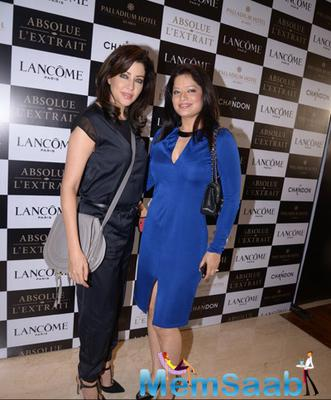 Aditi Gowitrikar And Arzoo Gowitrikar Posed For Camera During Lancome Promotional Event Hosted By Tanaaz Doshi