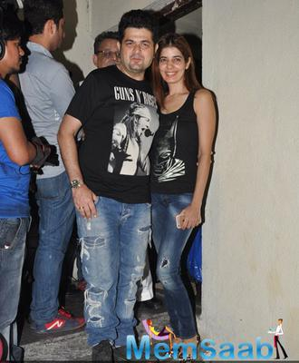 Dabboo Ratnani With Wife Manisha Ratnani Cool Posed At The Special Screening Of Shamitabh