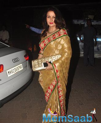 Poonam Dhillon With Gorgeous Look Attend The Sanjay Hinduja's Pre-Wedding Bash