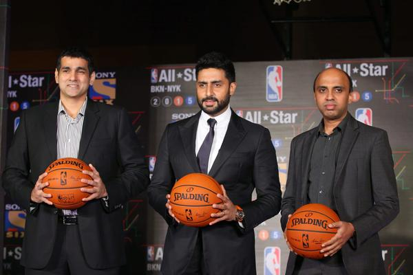 Abhishek Bachchan Attended The NBA All Stars Celebrity Game Press Meet