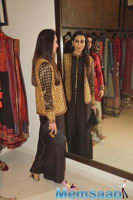 Karisma Kapoor Posed During Anjali Jani Flagship Store Launch Event