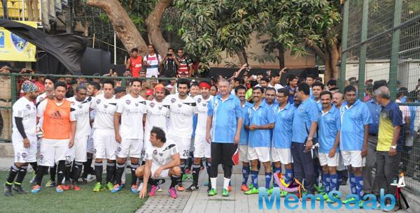 Bollywood Stars Snapped At All Stars Football Match