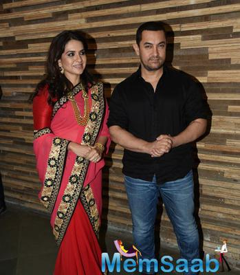Shaina NC And Aamir Khan Attended Shaina NC's Show At The Pidilite CPAA Event