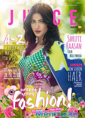 Juicy Shruti Haasan Features On The Cover Of The Juice Magazine Edition For The Month Of March 2015