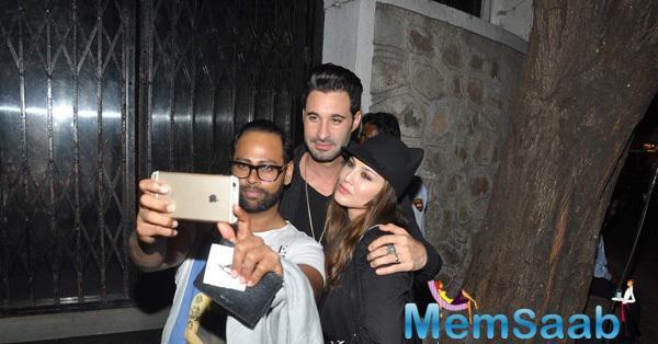 Sunny Leone And Her Husband Daniel Weber Snapped Outside Nido Restaurant