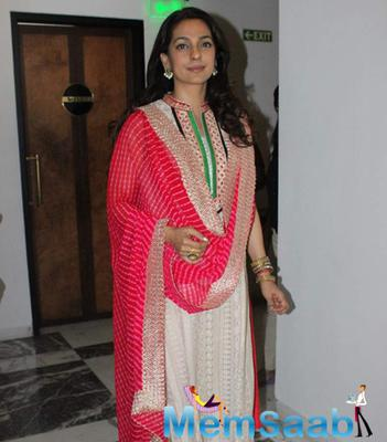 Juhi Chawla At The Inauguration Of Dialysis Centre At Dalvi Hospital