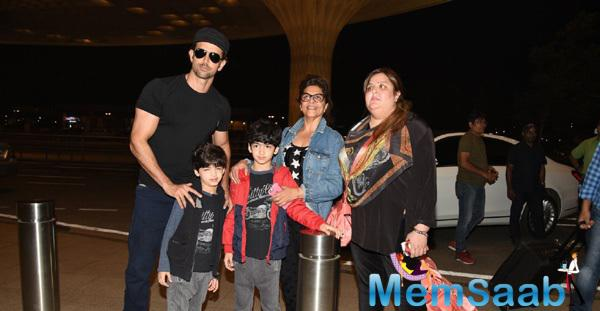 Hrithik Roshan Leaves For Maldives With Family