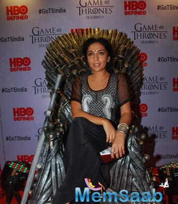 Shweta Salve Present At The Screnning Of Game Of Thrones Movie