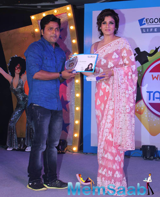 Raveena Tandon At The AEGON Religare Life Talent Contest