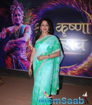 Hema Malini Spotted At Mathura Mahotsav