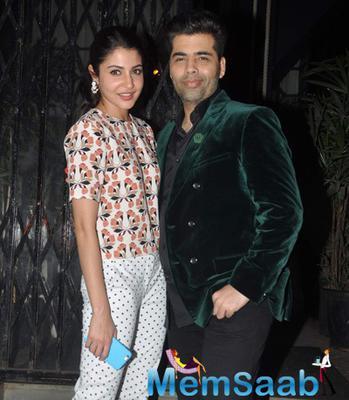 Anushka Sharma And Karan Johar Spotted At Nido Restaurant Bandra