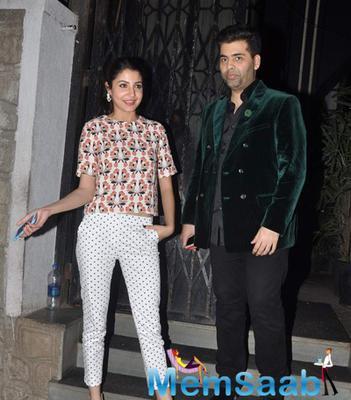 Karan Johar And Anushka Sharma Snapped Post Dinner At Nido
