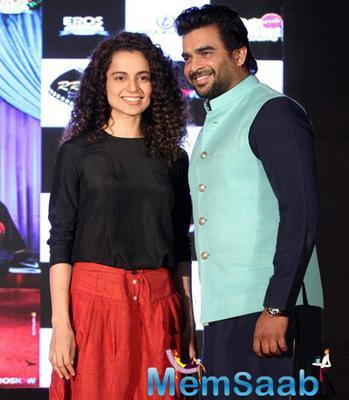 Kangana And Madhavan At Tanu Weds Manu Returns Promotions