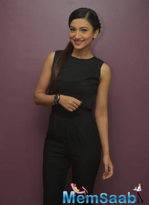 Gauhar Khan Smiling Pose For Camera During The Launch Of Laser Skin Clinic