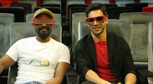 Varun Dhawan And Remo D'Souza Both Are Enjoy ABCD 2 Song In 3D Glassess