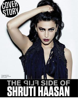 Attractive Shruti Haasan Poses Hot For FHM Magazine Cover