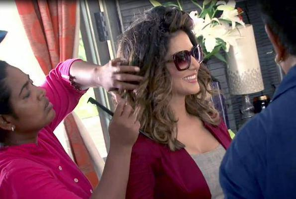 Sunny Leone On The Sets Of Beiimaan Love