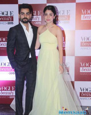 Anushka Sharma And Virat Kohli Look Perfect At Vogue Beauty Awards