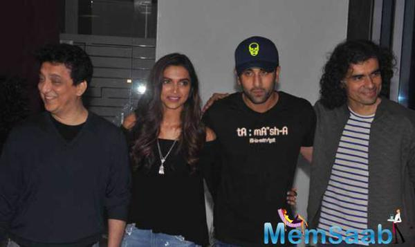 Deepika And Ranbir At Wrap Up Party Of  Tamasha