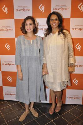 Lovely Lady Dia Pose With Anita At The Launch Of Anita Dongre's Newest Line - Grassroot