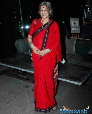 Theatre Actor Dolly Thakur Wears Red During Zarine Khan Book Launch Event