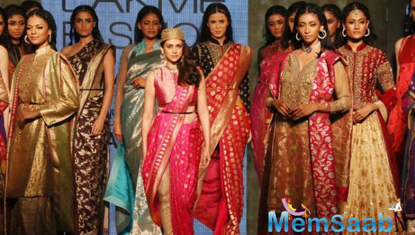 Aditi Rao Hydari Turned Ramp Queen For Ritu Kumar