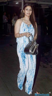 Tanishaa Mukerji Arrived To Attend The Screening Of Hero Movie