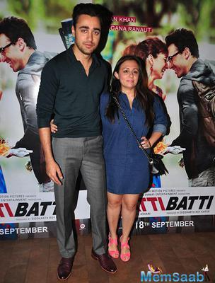 Imran Khan And Wife Avantika Malik Khan Enjoyed The Katti Batti Screening Hosted By Kangana