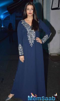 Stunning Aishwarya At The Jazbaa Wrap Party